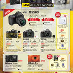 Digital Cameras DSLR D5500, D7100, D5300, D3300, Nikon 1 AW1, J4