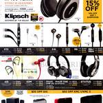 Klipsch Earphones, Headphones, Speakers, X11i, X7i, X4i, R6, R6i, R6m, A5i, S3M, Image One II, Bluetooth, Status, Promedia 2.1, Gig, KMC1, KMC3