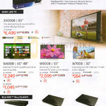 Sony PlayStation 4 PS4, X9000B, W600B, W800B, W700B TVs, BDP-S7200, S5200, S1200 Blu-Ray Player