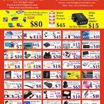 Accessories Cooling Fan, Mini DP, Hard Disk Docking, USB Lan Adapter, IPad Screen Protector, Headphone, Bluetooth, Earphones