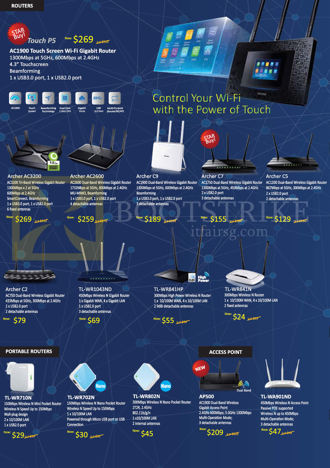 Asia Radio TP-Link Networking Routers Touchscreen AC1900