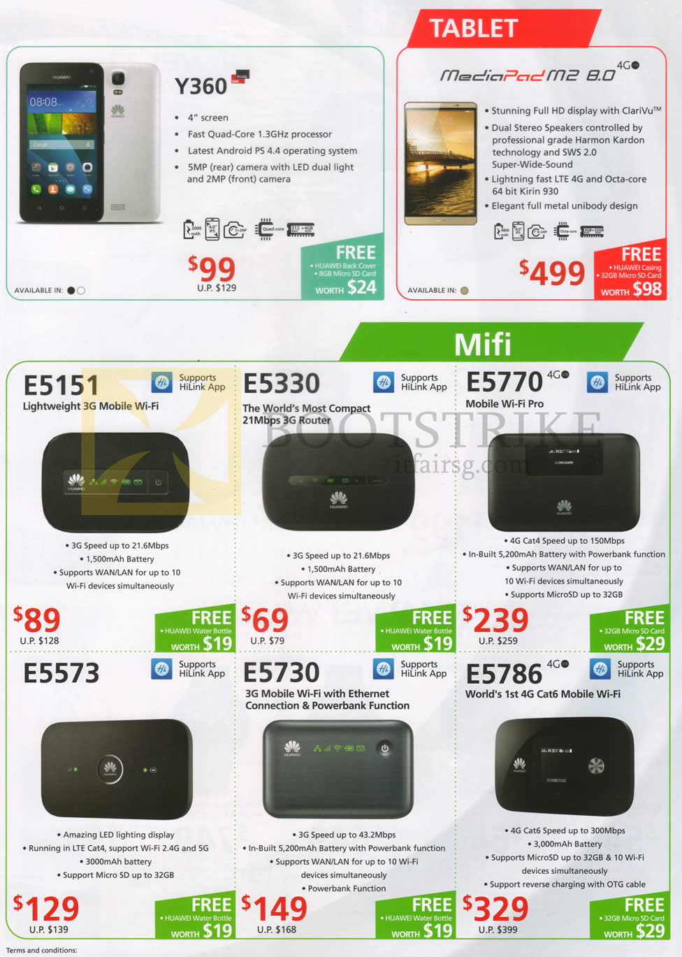 Convergent Huawei Tablets, Mobile Wifis, Y360, Mediapad M2 8 0