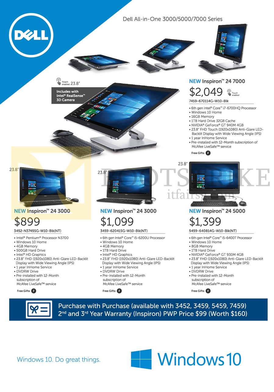 it show price list image brochure of dell aio desktop pcs inspiron 24