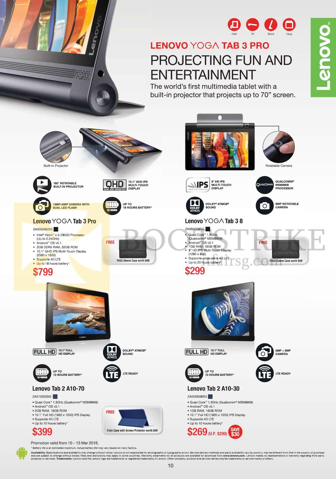 Lenovo Notebooks Yoga Tab 3 Pro Tab 3 8 Tab 2 A10 70 Tab 2 A10 30