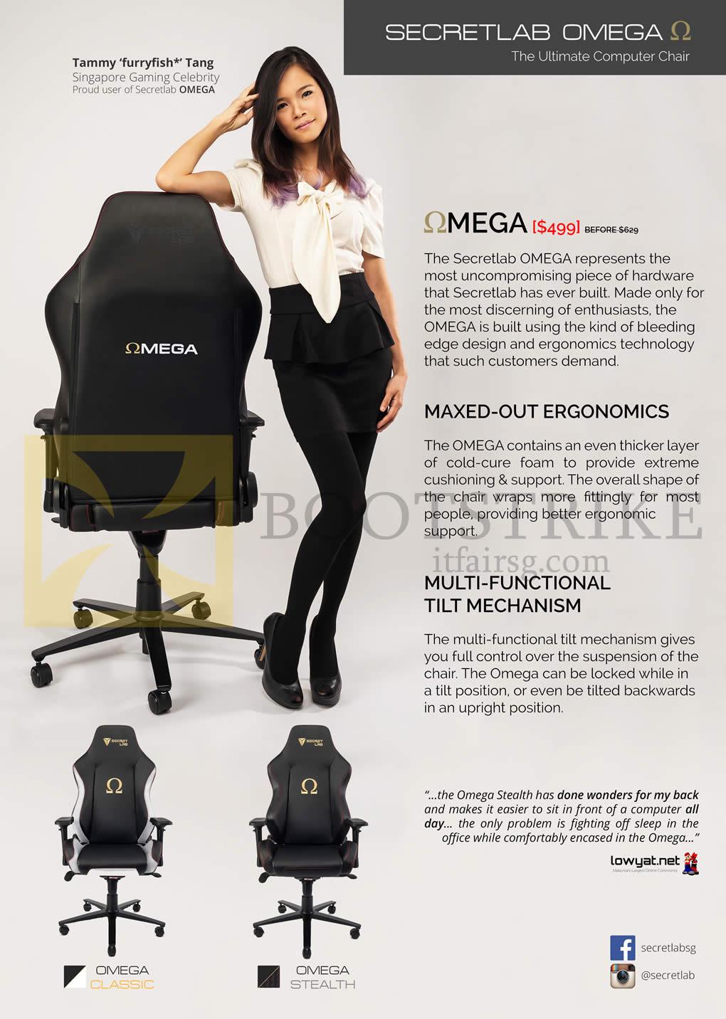 Secretlab Omega Chair Features It Show 2016 Price List