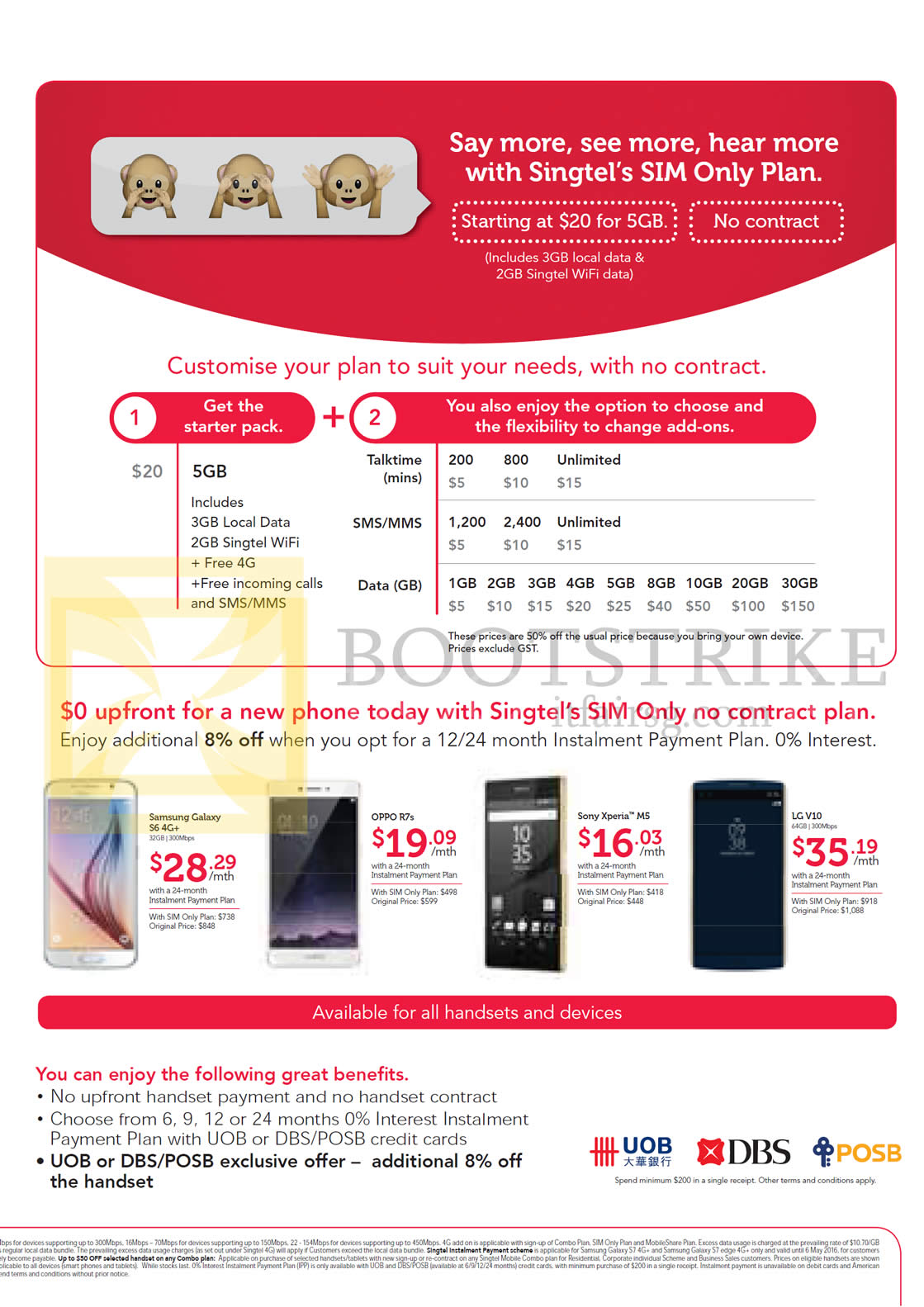 Singtel Sim Only Plan Mobile Phones Starter Pack