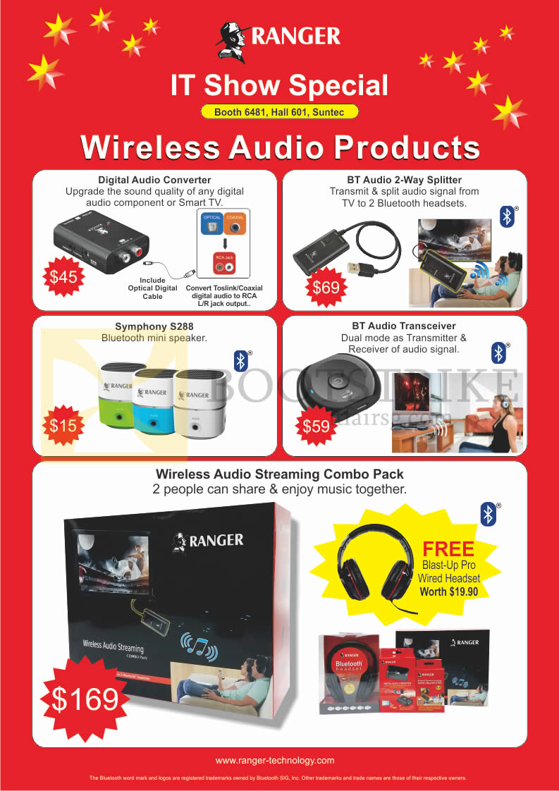 System Tech Ranger Wireless Audio Products, Digital Audio