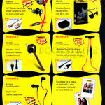 1818 Tech Awei Earphones, Bluetooth Headset, S980Hi, A840BL, A830BL, A980BL, ES500i