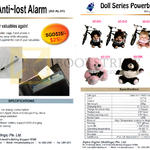 Alpha Digital Anti Lost Alarm, Doll Series Powerbank AD