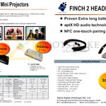 Alpha Digital Mini Projectors AD-FP-345, AD-FP-360C, Finch 2 Headphone