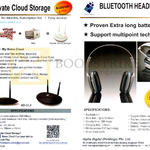 Alpha Digital Private Cloud Storage AD-CL2, Bluetooth Headphone AD-H2C