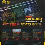 Keyboards Mechanical MKA-IIR MKA-3, MKA-5R, MKA-7, MKA-9C, AK 555i, AK990i