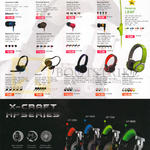 Audio Box Headphones, Earphones, Airphone UL500, Earpump Sport2, Neoplug Treon, Nozz, Sparkplug Turbine, Chrysan, Grafite, Turbo, Xenon 2, V, 7, Vibra 5, X-Craft
