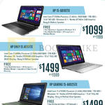 Newstead Notebooks 15-AB102TX, Envy 15 AE117TX, Gaming 15-AK025TX