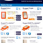Lacie Mobile Storage Rugged Mini, Triple, Thunderbolt, Raid Thunderbolt, Porsche Design Slim Drive, Mobile Drive