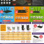 Netgear Networking Wifi Routers, Wifi Range Extenders, Wifi Adapters, Switches, Nighthawk X4S R7800, X8 R8500, X6 R8000, X3 R7000