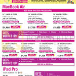 Apple Macbook Air Notebook, IPad Pro Tablet