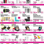 Audios, Chargers, Power Banks, Keyboard Cases, Storage, Jabra, Soul, Logitech, Moshi, Philips, Lacie, Transcend, J5create, Innergie