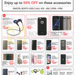 Singtel Accessories Cases, Headphones, Bluetooth Earphones, Soul Run Free Pro, Moshi IGlaze Napa, Flip Wallet, Keyboard Cover, Uniq Hybrid, Ringke, Otterbox Commuter
