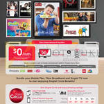 Singtel Fibre Entertainment Bundle Plus, Free 6mths