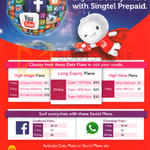 Singtel Prepaid Data Plans High Usage, Long Expiry, High Value, Facebook Plans, WhatsApp Plans