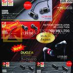 Treoo Earphones Zero Audio ZH-BX700-CD, BX510-CS, Duoza DWX10, DX200-CT, DX210-CB