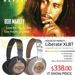 Treoo Headphones House Of Marley Liberate XLBT Midnight, Saddle