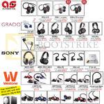 Treoo Headphones, Earphones, AKG, Aurosonics, Grado, Sony, Westone, K451, K452, ASG-2.5, 1, EGrado, SR60e, 80e, MDR-1ABT, 1RNC MK2, UMPRO10
