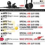 Treoo Headphones, Earphones, Q-Jays, U-Jays, A-Jays One, Plus, Two, Three, Four Plus, Five, T-Jays Three, Four