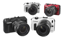 Canon EOS M Kit II: Body with EF-M22mm f/2.0 STM lens and EOS M adapter