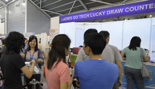 Ladies Go Tech Lucky Draw Counter