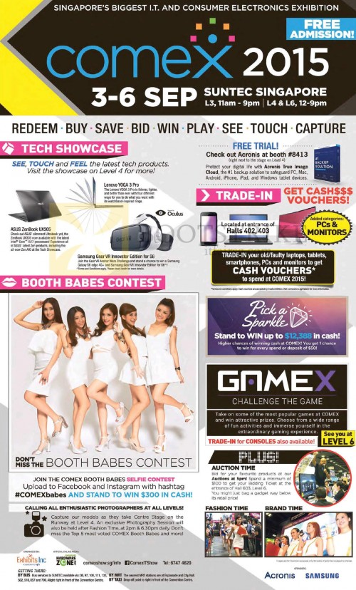 Event Details, Location, Opening Hours, Trade-in, Gamex, Fashion, Auction, Brand