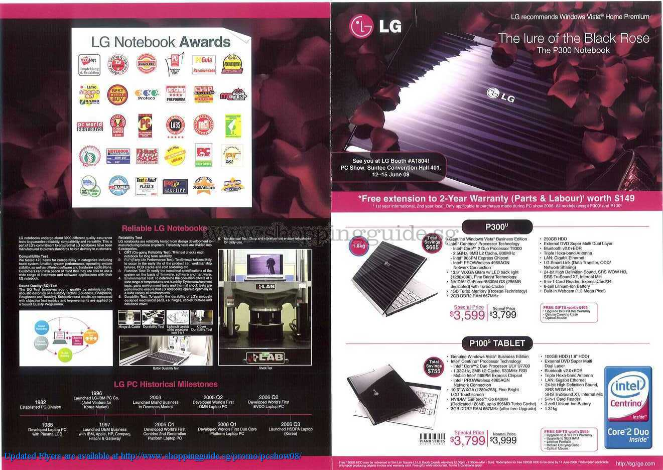 PC Show 2008 price list image brochure of LG ShoppingGuide.SG-PcShow08-089