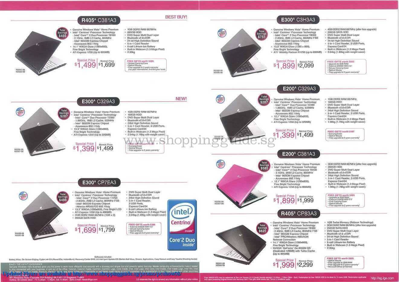 PC Show 2008 price list image brochure of LG ShoppingGuide.SG-PcShow08-090