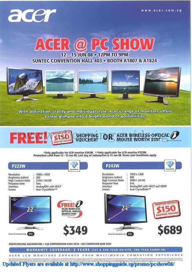 PC Show 2008 price list image brochure of Acer ShoppingGuide.SG-PcShow08-161