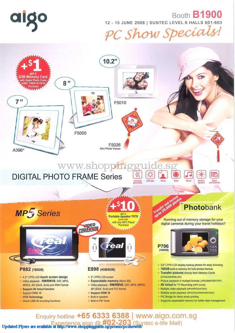 PC Show 2008 price list image brochure of Aigo ShoppingGuide.SG-PcShow08-018