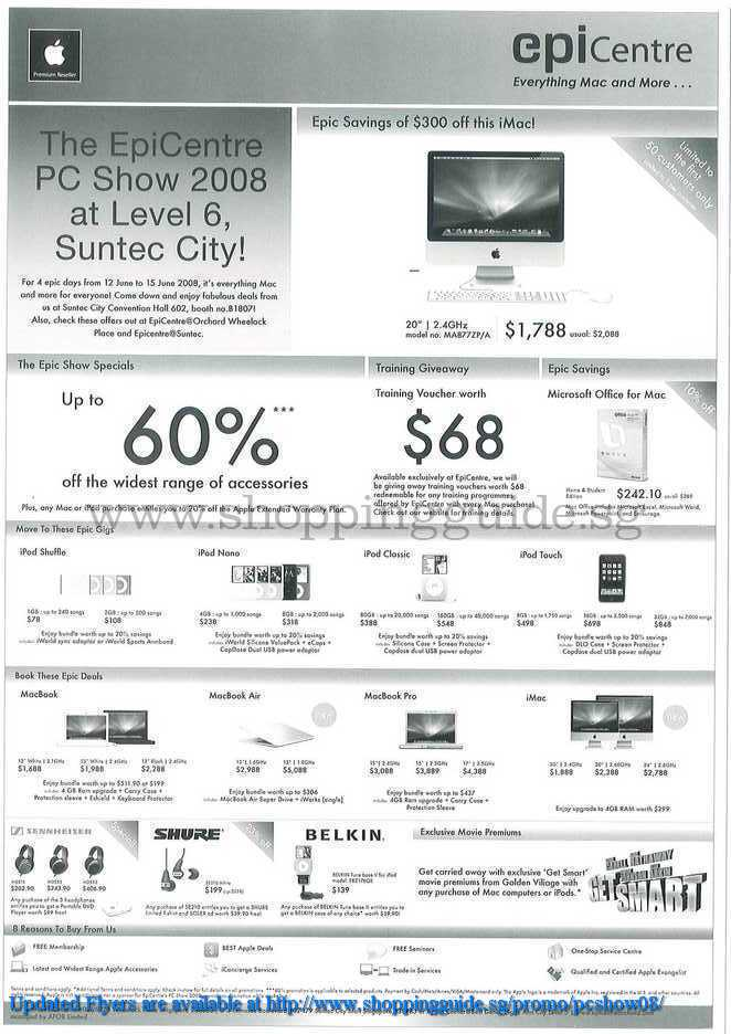 PC Show 2008 price list image brochure of Apple Ipod Macbooks ShoppingGuide.SG-PcShow08-103