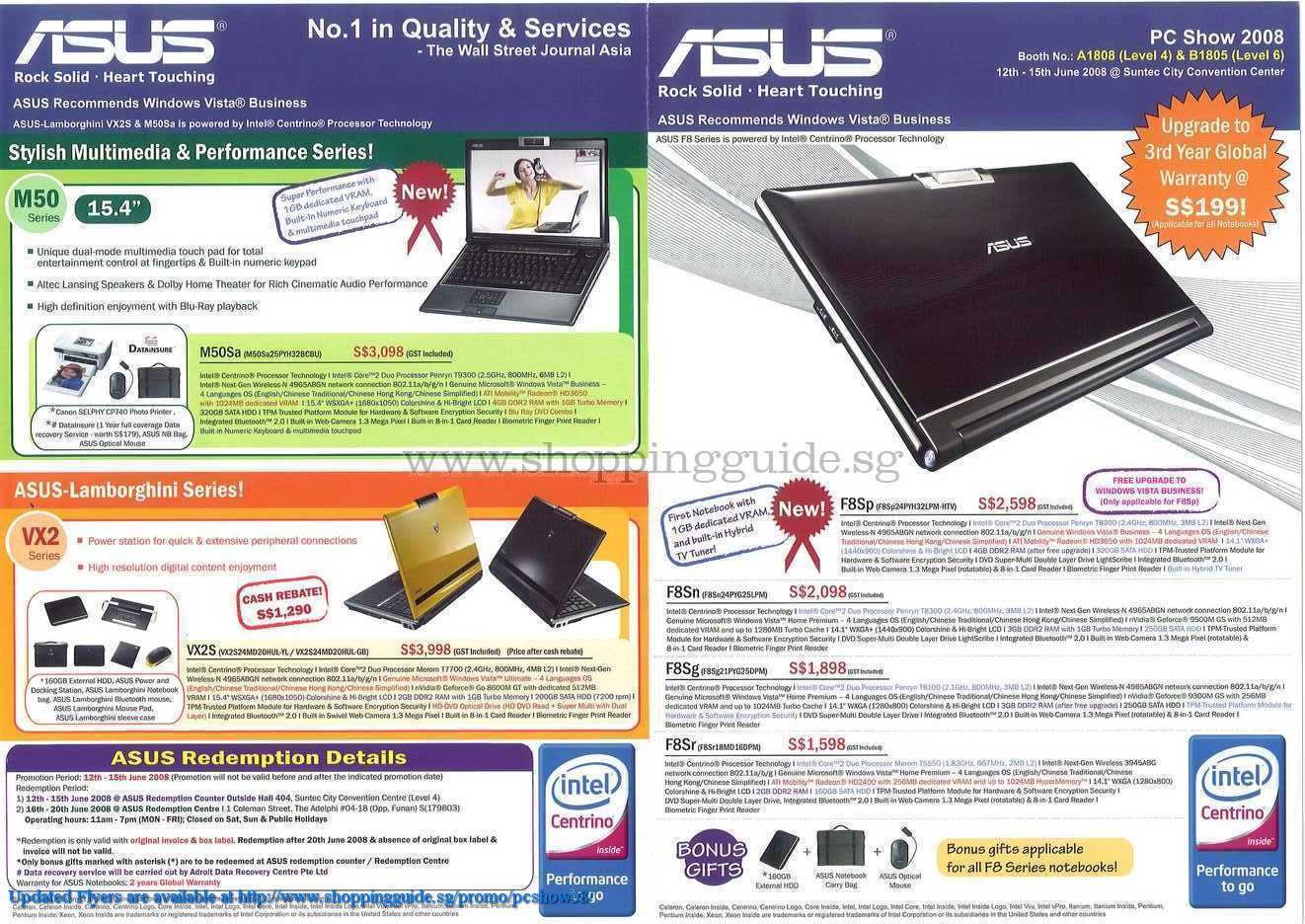 PC Show 2008 price list image brochure of Asus Notebooks ShoppingGuide.SG-PcShow08-087