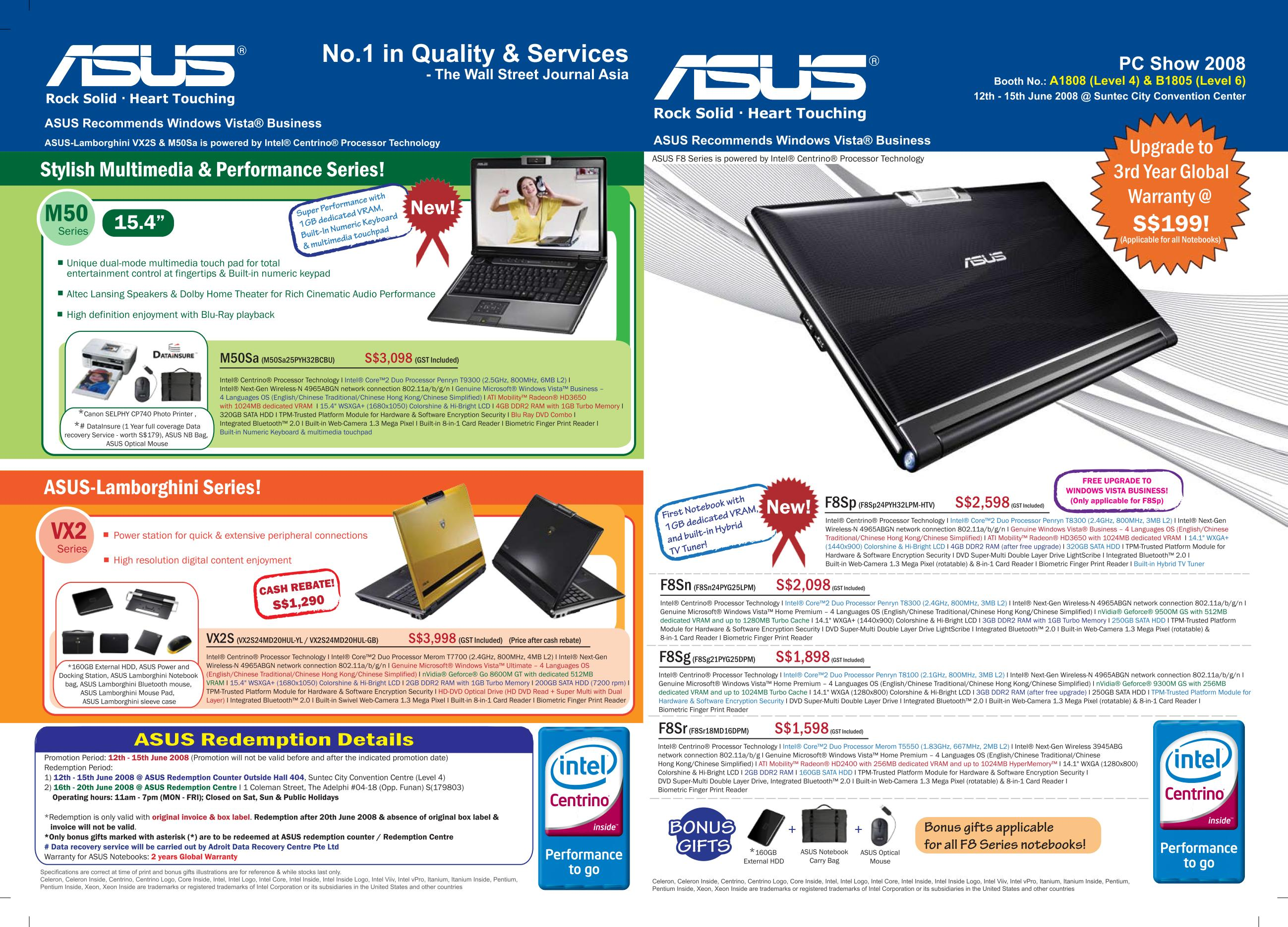 PC Show 2008 price list image brochure of Asus Notebooks Front.pdf 01