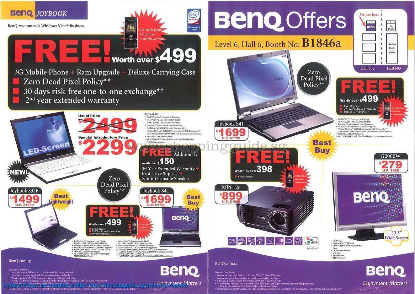 PC Show 2008 price list image brochure of Benq ShoppingGuide.SG-PcShow08-079