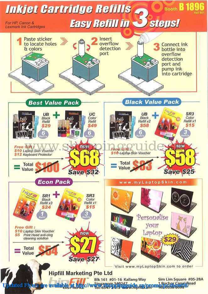 PC Show 2008 price list image brochure of Bipfill Ink ShoppingGuide.SG-PcShow08-052