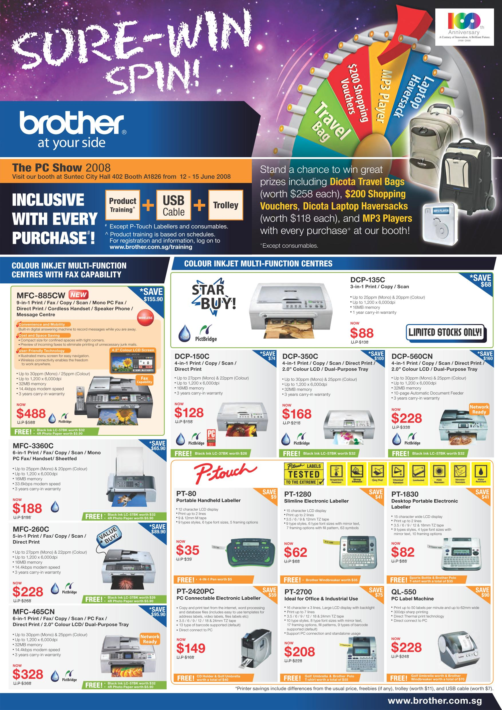 PC Show 2008 price list image brochure of Brother Printers Show.pdf 01