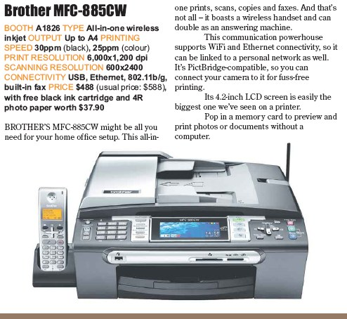 PC Show 2008 price list image brochure of Brother Mfc-885cw