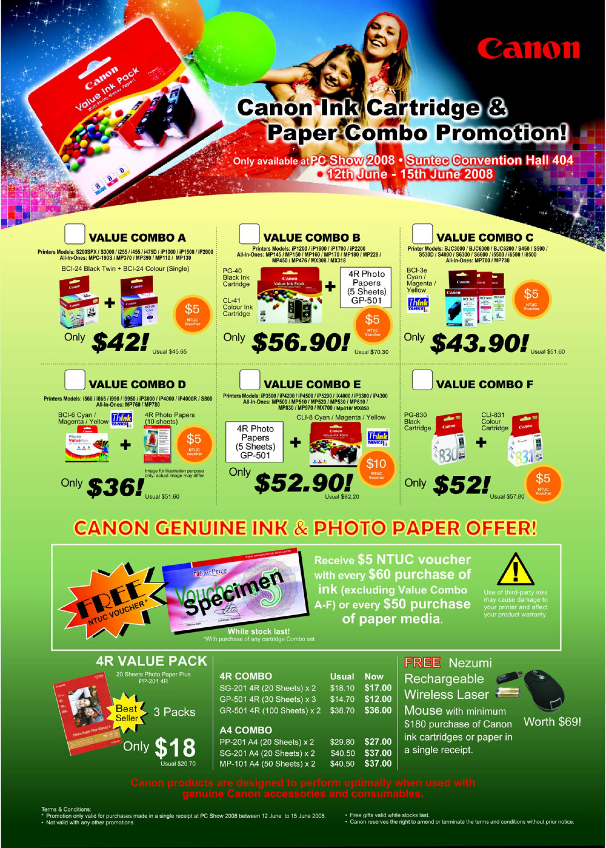 PC Show 2008 price list image brochure of Canon Consumables.pdf 01