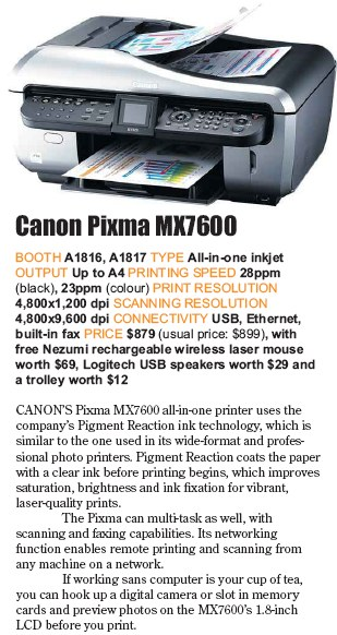 PC Show 2008 price list image brochure of Canon Pixma Mx7600