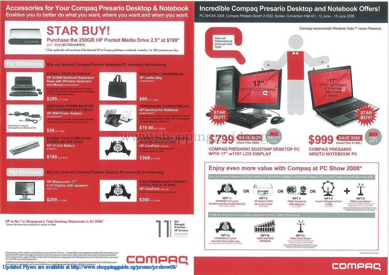 PC Show 2008 price list image brochure of Compaq ShoppingGuide.SG-PcShow08-081