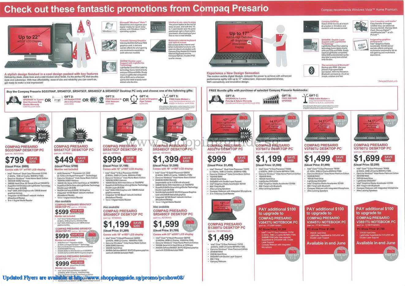 PC Show 2008 price list image brochure of Compaq ShoppingGuide.SG-PcShow08-082