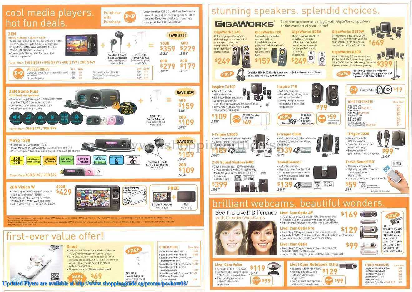PC Show 2008 price list image brochure of Creative ShoppingGuide.SG-PcShow08-190