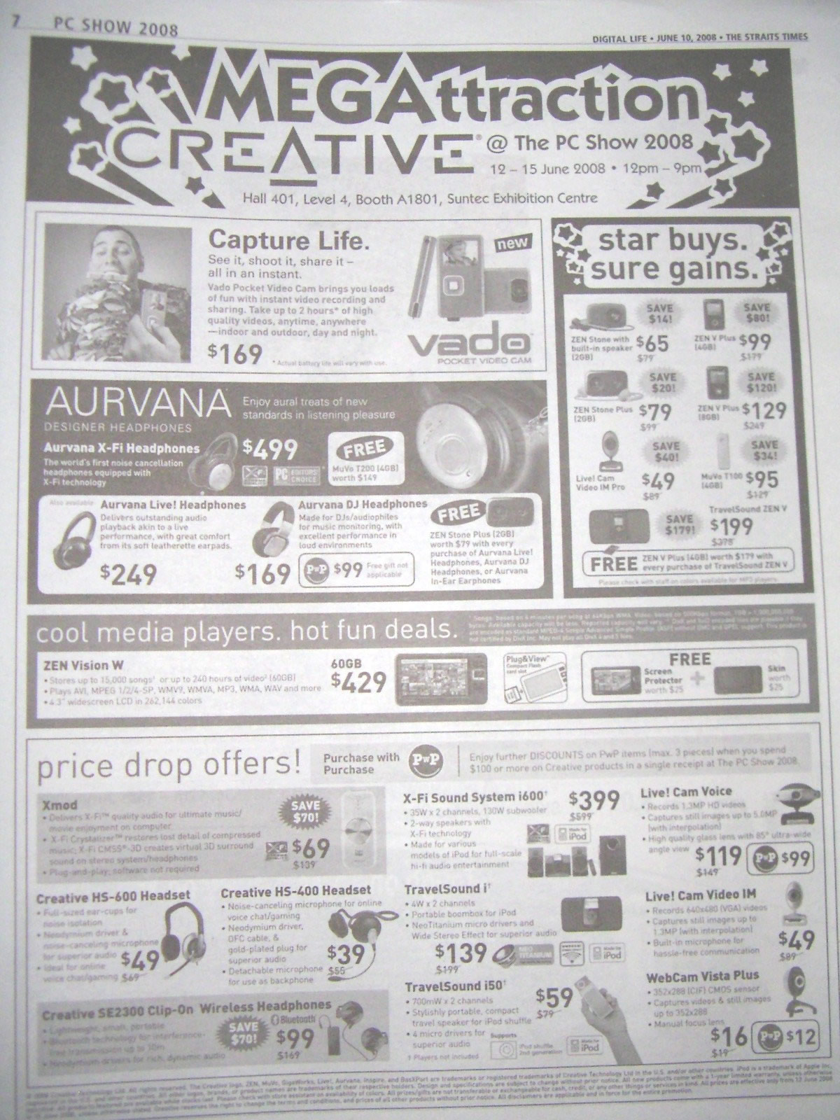 PC Show 2008 price list image brochure of Creative Ad