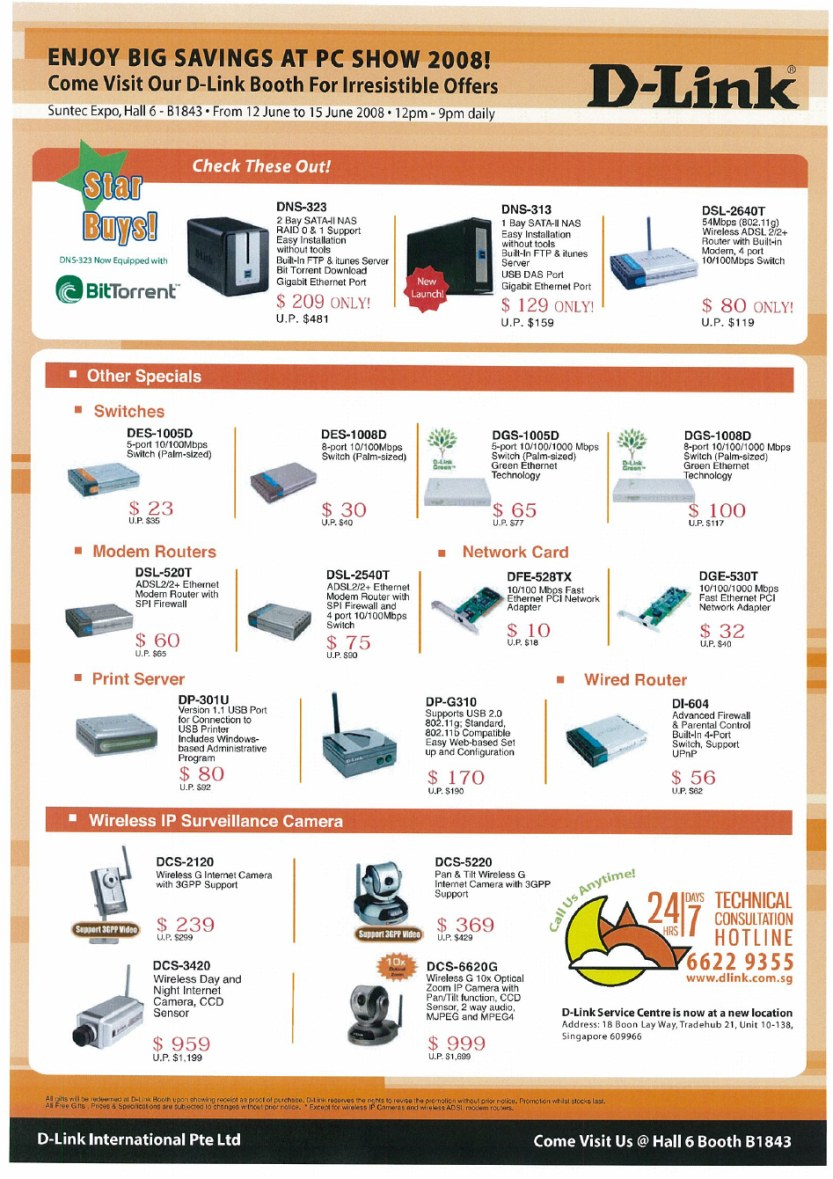 PC Show 2008 price list image brochure of Dlink 2